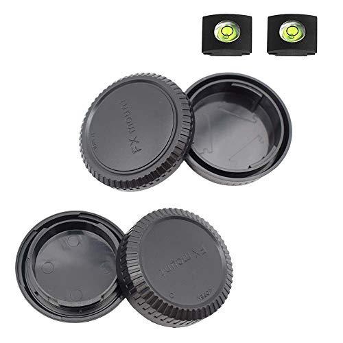 ULBTER Coperchio della custodia + Copriobiettivo posteriore per Fujifilm X-T4 X-T3 X-T1 X-T2 X-T30 X-T20 X-T10 X-H1 X-T200 X-T100 X-PRO3 More Fujinon X Monte fotocamera e obiettivo -2 pezzi