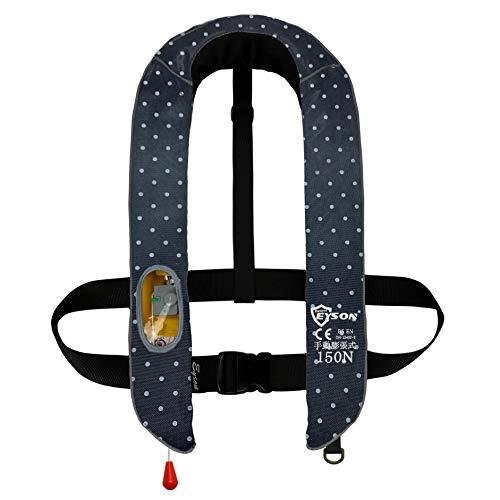 eyson ライフジャケット 手動膨張式 首かけ 釣り ベストタイプ救命胴衣 男女兼用 CE認定済 10色