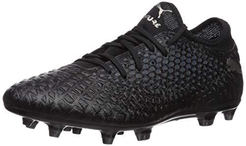 PUMA Men's Future 4.4 Netfit Firm Artificial Ground Soccer-shoe, Black Black Aged Silver, 11 M US