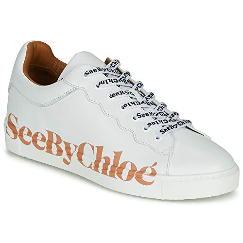 see by chloé Sb33125a Sneaker Damen Weiss - 41 - Sneaker Low Shoes