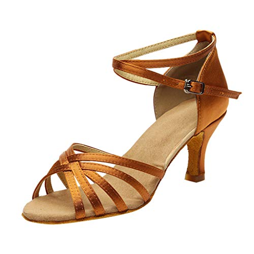 Dasongff Tanzschuhe Damen Gold, Frau Standard & Latein Dance Schuhe Peep Toe Ballschuhe Salsa Tango Shoes ProfessionelleHigh Heels Schuhe LateinischeSandalen Pumps