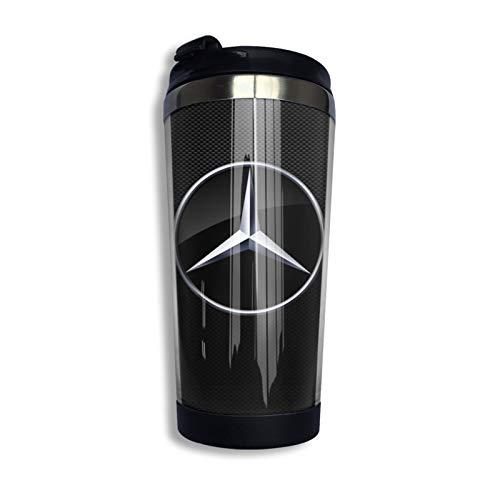 Mercedes Benz Reise-Kaffeetasse, aus Edelstahl, Retro, keine Mercy Grafik, doppelwandig, Thermobecher, Thermobecher, Thermobecher