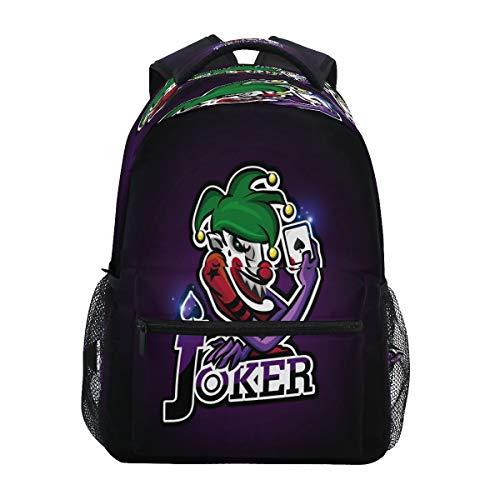 Süße Jokerkarten Krone Rucksack Schulter Bookbag Kinderrucksack Teen Jungen Mädchen Büchertasche Laptop Rucksäcke