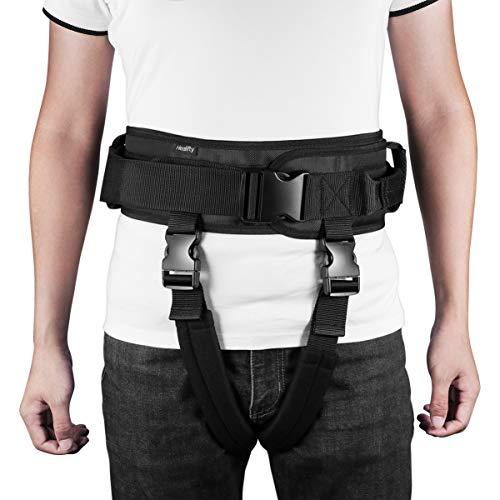 Healifty Cinturón de Transferencia con Asas Perneras - Cinturón de Marcha - para Pacientes, Ancianos, Niños, Fisioterapia - Rehabilitación para Caminar de Pie