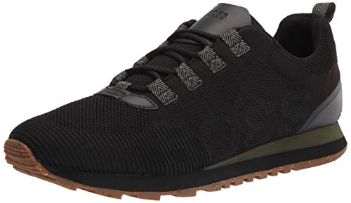 Hugo Boss mens Parkour Sneaker, Black Iron, 7 US
