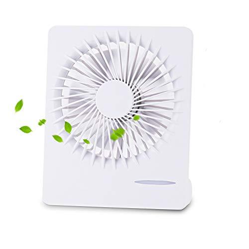 KATELUO Ventilador USB, Mini Ventilador,con Interruptor de Tres velocidades de 1200 mAh y súper silenciamiento, Adecuado para Oficina, hogar, Viajes, Camping