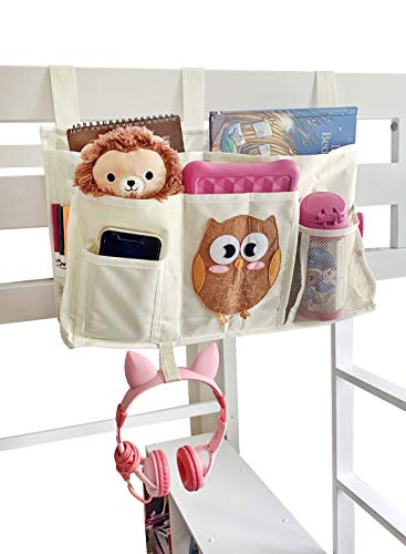 Votprof Bedside Caddy Hanging Organizer, Hanging Storage Bag for Kids, Baby Room, Nursery Storage - Lots of Storage Space for Kids Room, Fits Any Bed That Has Side Rails