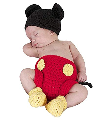 Lppgrace Newborn Photography Prop Baby Costume Cute Crochet Knitted Hat Cap Girl Boy Diaper Shoes
