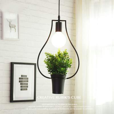 ACHICOO LED industriële stijl smeedijzeren plant hanglamp voor decoratie zonder lampen vaas