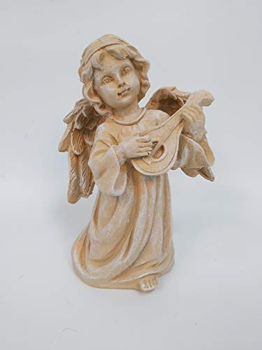 Wonderland 8 inch Angel/Cherub Playing harp-Strung for Gift/Gifting/Table/Home Decor/Garden,Christmas Decoration
