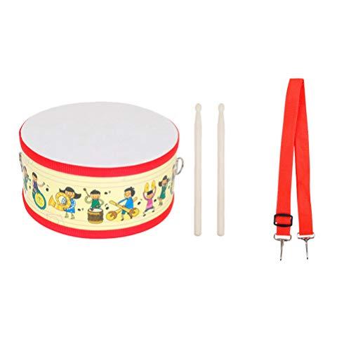 EXCEART Bęben do zabawy dla dzieci, z regulowanymi paskami, instrument muzyczny, zabawka dla niemowląt, przedszkola, muzyczna wczesna edukacja