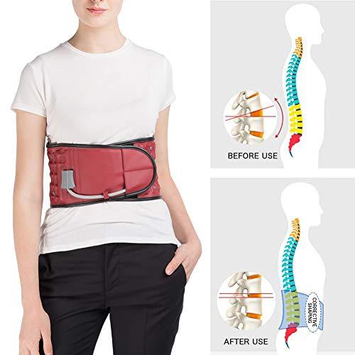 FJLOVE Rückenbandage Lendenwirbelbandage Rückenstützgürtel Orthopädisch Für Ischias, Spinalstenose, Skoliose Oder Bandscheibenvorfall,L