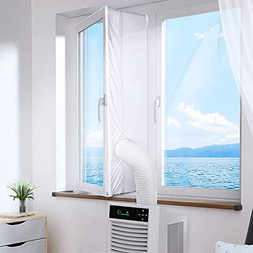 Rhodesy Fensterabdichtung für Mobile Klimageräte und Abluft-Wäschetrockner, Passend zu Jedem Klimagerät und Allen Schlauchgrößen - Umlaufmaß bis 400 cm