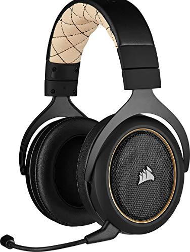 Corsair Casque Gaming HS70 Pro Wireless, Crème (Reconditionné)