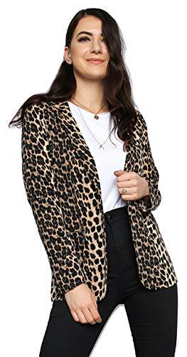 Momo&Ayat Fashions Dames Luipaard Crepe Smart Blazer Jas UK Maat 8-16