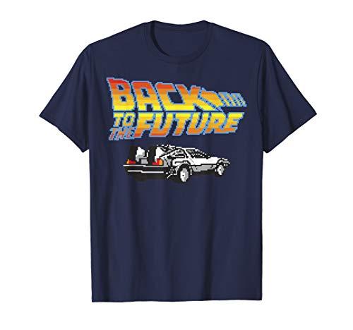 Back To The Future 8-Bit Delorean Logo Graphic...