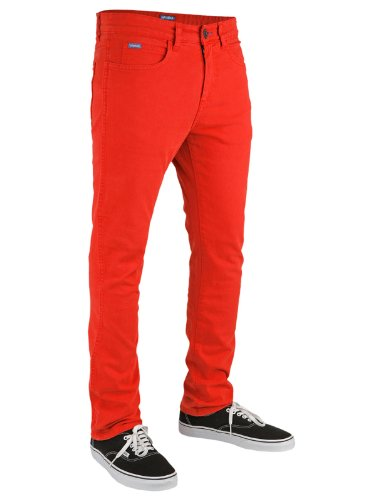 Superslick Tight Color Pant Slim Jeans Rosso Red 33/32