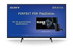 Sony KD-49XH8096 Bravia 123 cm (49 Zoll) Fernseher (Android TV, LED, 4K Ultra HD (UHD), High Dynamic Range (HDR), Smart TV, Sprachfernbedienung, 2020 Modell) Schwarz