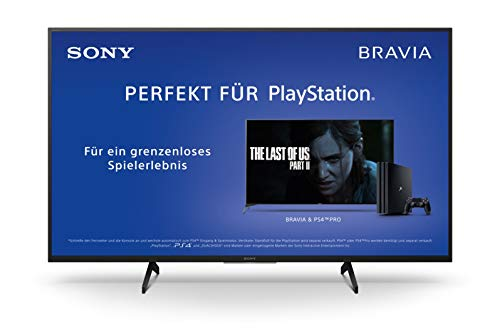 Sony KD-49XH8096 Bravia 123 cm (49 Zoll) Fernseher (Android TV, LED, 4K Ultra HD (UHD), High Dynamic Range (HDR), Smart TV, Sprachfernbedienung, 2020 Modell) Schwarz