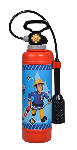 Simba  109252398 - Feuerwehrmann Sam Feuerlöscher Pro / mit Druckluftmechanismus / Tankvolumen: 900ml / 31cm, für Kinder ab 3 Jahren