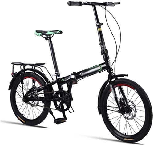 Folding Bicycles, The Folded Mountain Bike Men Women, 20'Speed Mountain Bike, The Damper bis Student Spoke Wheels MTB Racing, Road/Ground/Common Bicycle Work (Color : Black, Size : 20Inch)
