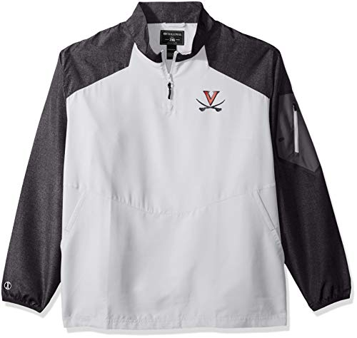 Ouray Sportswear NCAA Virginia Cavaliers Men's Raider Pullover Jacket, Carbon Print/White, 2X