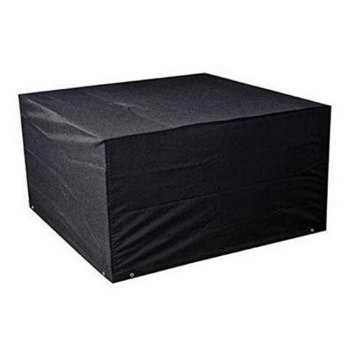 LWL House Anti-UV imperméable à la poussière 210D Oxford Tissu Table Pliante Chaises Housse de Protection de mobilier d extérieur Couverture, Taille: 213 * 132 * 74cm (Noir) Haute qualité