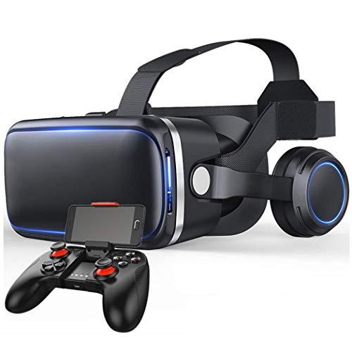 JCSW Realtà Virtuale, VR Occhiali 3D Compatibile con Tutti Gli Smartphone da 4,7 a 6,5 Pollici, Lente Regolabile e Comoda Cinghia per Film e Giochi 3D, Samsung, Huawei,LG,Sony,Xiaomi,iPhone, O003XB