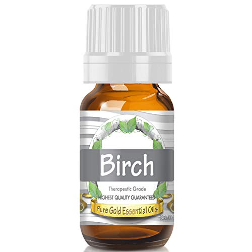 Pure Gold Birch Essential Oil, 100% Natural & Undiluted, 10ml