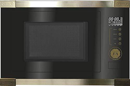 Kaiser EM 2545 AD Einbau Multifunktions Mikrowelle,Schwarz Glas,25L,Heißluft Grill,21 Funktionen,Mikrowelle zum Einbau,8 Sonderfunktionen, Kartoffel, Pizza, Kindersicherung,Einbaumikrowelle Retro