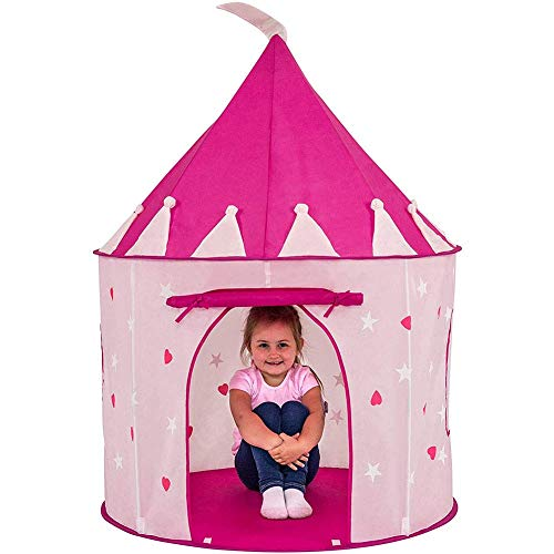 Tienda de campaña Princess Castle Play, se pliega cómodamente en un Estuche de Transporte, Sus Hijos disfrutarán de Esta Tienda de campaña/casa de Juguete Rosa emergente Plegable para Uso