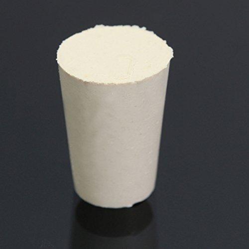 EsportsMJJ Flask Test Tube Solid Whitetapered Rubber Stopper Plug Bung Laboratory Regel Apparatus - #000