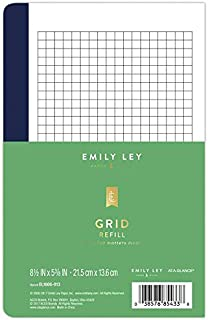 Emily Ley Simplified System Notes Refill, Grid, 5 3/8