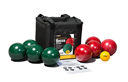 St Pierre Sports Professional Bocce Set, Green/Maroon, 107mm