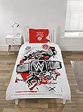 Coco Moon WWE World - Juego de ropa de cama para cama individual o doble, diseño de lucha libre