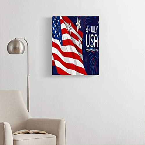 DIY 5D Diamond Painting Kits 4Th July USA Independence Day Full Drill Painting Arts Craft Canvas for...