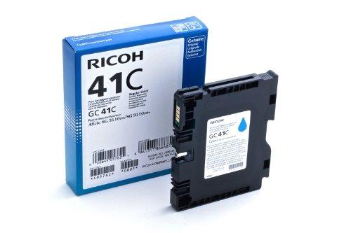 Ricoh 405762 SG3110DN Inkjet Cartridge, 2200 Seiten, ISO24711 GC41C, cyan
