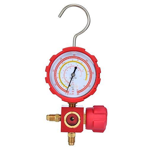 Herramienta de Refrigeración de Aire Acondicionado de Alta Presión del Colector de Freón de Diagnóstico para R22 / R410A / R134A / R407C con mirilla G1 / 4