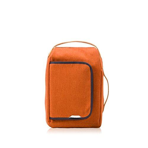 RAWROW Fashion Schule Rucksack Schultasche LAPTOP182 Wachs Leinwand Orange