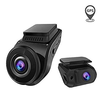 Vantrue S1 Dual 1080P Dash Cam, Front and Rear Built in GPS Speed Dash Camera, 2880x 2160P Single Front, Super Capacitor, Low Light Night Vision, 24hr Parking Mode, Motion Detection, Support 256GB Max