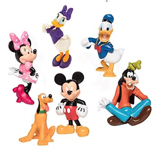 Disney Store Mickey and Friends Spielset bestehend aus: Mickey Maus, Minnie Maus, Donald Duck, Daisy Duck, Goofy und Pluto