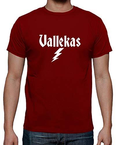latostadora - Camiseta Vallekas para Hombre Rojo M