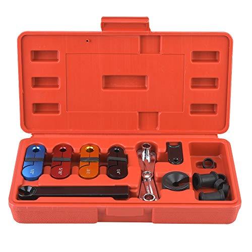 Suuonee Auto Disconnect Set, 11 stks Auto Brandstof Transmissie Lijn Koeler Pijp Snelle Ontkoppeling Airco Reparatie Gereedschap Kit Airconditioning Lekdetector