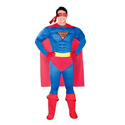 Super Hero Kostüm für Herren Karneval Fasching Superheld Reporter Umhang Gr. M-XL, Größe:M