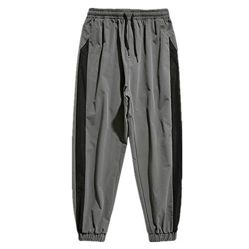 U/A Pantalones Hombres Sueltos Harén Pantalones De Tobillo Longitud Pantalones Deportivos Negro