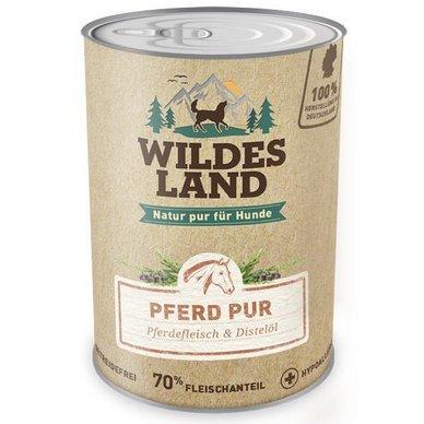 Wildes Land Hundefutter Nassfutter Pferd PUR 800g (18 x 800g)