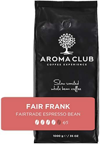 Aroma Club Kaffeebohnen bio 1 kg – Fair Frank Medium/Dark röstung – Vietnam – Slow Roast – Für alle Kaffeemaschinen