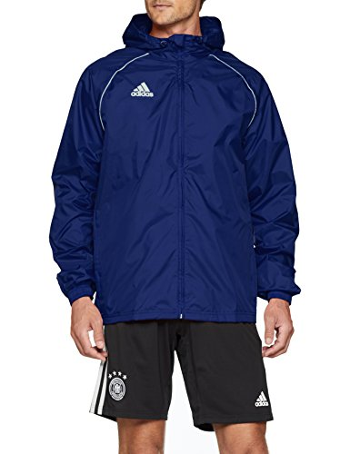 adidas Core18 Rain Jacket, Uomo, Dark Blue/White, XL