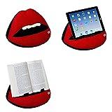 Soporte sofá de Lectura, Atril para Libros, iPad, Tablet, eReader, cojín de Descanso, Idea de Regalo - Modelo Labios