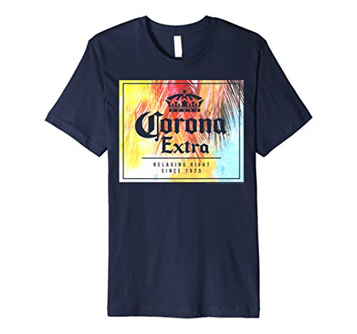 Officially Licensed Corona Extra Square Logo Graphic T-Shirt